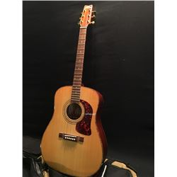 WASHBURN MODEL DK20T ACOUSTIC/ELECTRIC GUITAR, WITH TORTOISE SHELL STYLE BINDING, COMES WITH SOFT