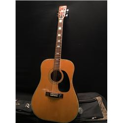 NORTHERN MODEL NW-75 ACOUSTIC GUITAR, MADE IN JAPAN, SERIAL NUMBER 61211, COMES WITH SOFT CASE