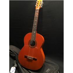 MALAGA NYLON STRING GUITAR, MADE IN SPAIN, COMES WITH SOFT SHELL CASE