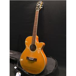 GIBSON EPIPHONE MODEL PR6-E CUTAWAY ACOUSTIC/ELECTRIC GUITAR, WITH INTEGRATED DI XLR OUTPUT, AND