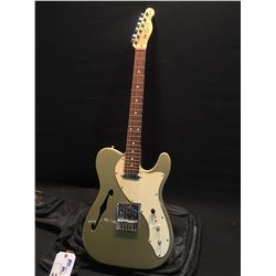 FENDER SQUIER TELECASTER SEMI HOLLOW BODY ELECTRIC GUITAR, WITH TWO SINGLE COIL PICKUPS, ASHTRAY