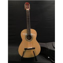CORT MODEL AC-12 NAT NYLON STRING ACOUSTIC GUITAR, COMES WITH HARD SHELL ZIPPER CASE