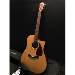 FENDER MODEL CD280SCE NAT CUTAWAY ACOUSTIC/ELECTRIC GUITAR, COMES WITH SOFT SHELL CASE
