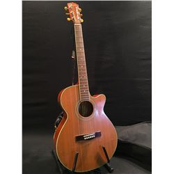 FENDER MODEL J26S NS ACOUSTIC/ELECTRIC GUITAR, COMES WITH SOFT SHELL CASE