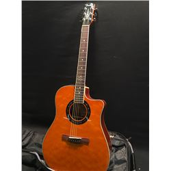 FENDER HOT ROD DESIGN MODEL T-BUCKET-300CE AM3 ACOUSTIC/ELECTRIC GUITAR, COMES WITH SOFT SHELL CASE