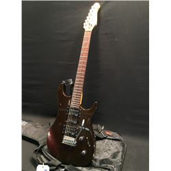 GODIN FREEWAY CLASSIC STRAT STYLE ELECTRIC GUITAR, MADE IN CANADA, WITH TWO HUMBUCKERS AND ONE