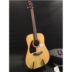 IBANEZ MODEL PF5L-NT-14-05 LEFT HANDED ACOUSTIC GUITAR, COMES WITH SOFT SHELL CASE