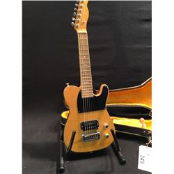HOPKINS TELE STYLE MINI ELECTRIC GUITAR, WITH SINGLE HUMBUCKER PICKUP, VOLUME AND TONE CONTROLS,