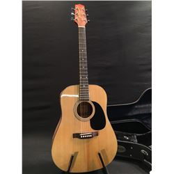JASMINE BY TAKAMINE MODEL S33 ACOUSTIC GUITAR, COMES WITH HARD SHELL CASE