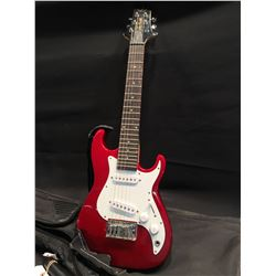 SAMICK GREG BENNETT MALIBU MINI STRAT STYLE ELCTRIC GUITAR, WITH TWO SINGLE COIL PICKUPS, TONE AND