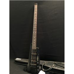 WASHBURN BANTAM 4 STRING HEADLESS ELECTRIC BASS, WITH TWO SINGLE COIL PICKUPS, COMES WITH SOFT