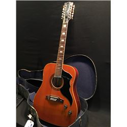 VINTAGE EKO MODEL J. 56/1 12 STRING ACOUSTIC/ELECTRIC GUITAR, MADE IN ITALY, WITH SINGLE COIL NECK