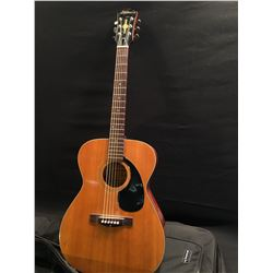 ARIANA MODEL A-692 ACOUSTIC GUITAR, MADE IN JAPAN, SERIAL NUMBER 976, COMES WITH SOFT SHELL CASE