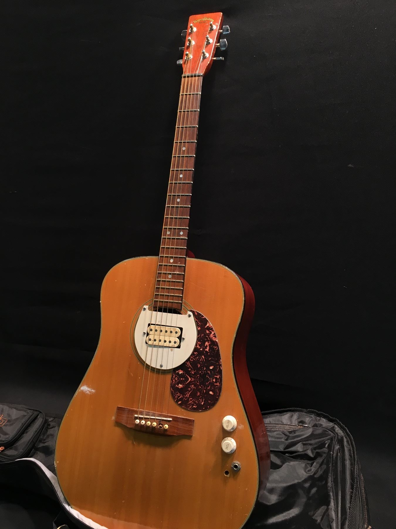 Sigma Model Dm2 Acoustic Guitar With Added Humbucker Pickup Tone