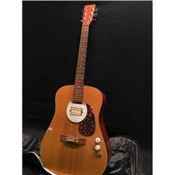 SIGMA MODEL DM2 ACOUSTIC GUITAR, WITH ADDED HUMBUCKER PICKUP, TONE AND VOLUME CONTROLS, COMES WITH