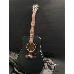 ART AND LUTHERIE CEDAR MODEL ACOUSTIC GUITAR, MADE IN QUEBEC, CANADA, COMES WITH SOFT SHELL CASE