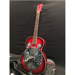 LAREDO BY EQUINOX MODEL DB300 RESONATOR ACOUSTIC GUITAR, SERIAL NUMBER 97632, COMES WITH SOFT SHELL