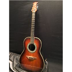 OVATION MODEL 1111-1 COMPOSITE CURVED BACK ACOUSTIC GUITAR, MADE IN NEW HARTFORD, CONNECTICUT, USA,