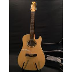 VANTAGE MODEL VS-40CEM-12 12 STRING CUTAWAY THIN BODY ACOUSTIC/ELECTRIC GUITAR, COMES WITH HARD