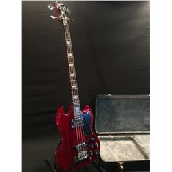 EPIPHONE SG BASS GUITAR, WITH THREE POSITION ROTARY PICKUP SELECTOR, TWO SINGLE COIL PICKUPS, TWO
