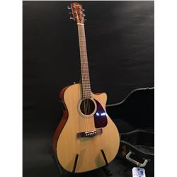 FENDER MODEL CA360SCE NAT CUTAWAY ACOUSTIC/ELECTRIC GUITAR, COMES WITH HARD SHEL CASE