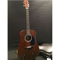 HARMONY MODEL H162E ACOUSTIC/ELECTRIC GUITAR, COMES WITH HARD SHELL CASE