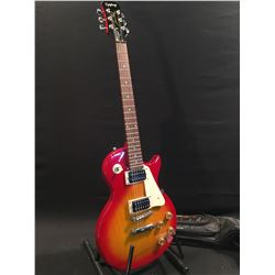 EPIPHONE LES PAUL 100 ELECTRIC GUITAR, WITH TWO HUMBUCKER PICKUPS, PICK GUARD, THREE POSITION