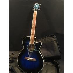 IBANEZ CUTAWAY ACOUSTIC/ELECTRIC GUITAR, COMES WITH SOFT SHELL CASE