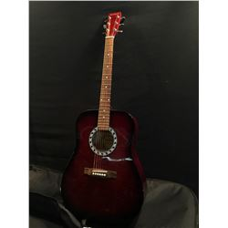 HYBURN MODEL H79 ACOUSTIC GUITAR, COMES WITH SOFT SHELL CASE