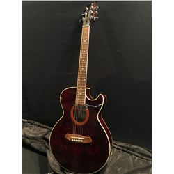 IBANEZ MASA COMMEMORATIVE SERIES CUTAWAY SMALL BODY ACOUSTIC/ELECTRIC GUITAR, COMES WITH SOFT SHELL