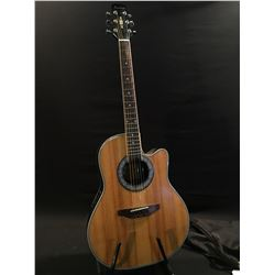 BEAVER CREEK MODEL BCRB509 CUTAWAY ACOUSTIC/ELECTRIC GUITAR, COMES WITH SOFT SHELL CASE