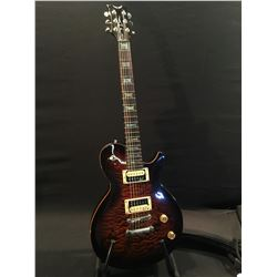 DEAN EVO LES PAUL STYLE GUITAR, WITH TWO HUMBUCKER PICKUPS, VOLUME AND TONE CONTROLS, THREE