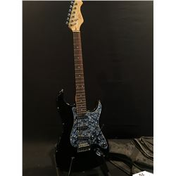 ROSE STRAT STYLE ELECTRIC GUITAR, WITH THREE SINGLE COIL PICKUPS, FIVE POSITION PICKUP SELECTOR,