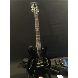 DEAN BOCA DOUBLE CUT SEMI HOLLOW BODY LES PAUL STYLE 12 STRING ELECTRIC GUITAR, WITH TWO HUMBUCKER