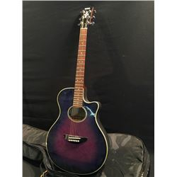 YAMAHA MODEL APX-SPLII ACOUSTIC/ELECTRIC GUITAR, COMES WITH SOFT SHELL CASE