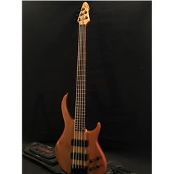 PEAVEY BXP 5 STRING ELECTRIC BASS, WITH TWO SOAP BAR STYLE PICKUPS, TWO TONE AND TWO VOLUME