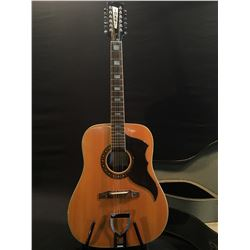 EKO MODEL RANGER X12, 12 STRING ACOUSTIC GUITAR, MADE IN ITALY, NOVEMBER 25, 1972, SIGNED BY