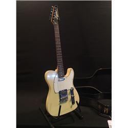 LYON BY WASHBURN TELE COPY ELECTRIC GUITAR, WITH TWO SINGLE COIL PICKUPS, THREE POSITION PICKUP