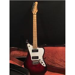 SAMICK ARTIST SERIES OFFSET BODY ELECTRIC GUITAR, WITH TWO P90 STYLE PICKUPS, VIBRATO BRIDGE, AND
