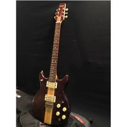 VANTAGE DOUBLE CUT LES PAUL STYLE ELECTRIC GUITAR, SERIAL NUMBER 80751, WITH LES PAUL STYLE