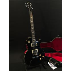 HONDO LES PAUL COPY GUITAR, WITH TWO HUMBUCKER PICKUPS, THREE POSITION PICKUP SELECTOR, TWO TONE