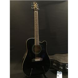 JASMINE BY TAKAMINE MODEL ES-31C ACOUSTIC/ELECTRIC GUITAR, COMES WITH HARD SHELL CASE