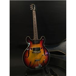 ARIA HOLLOW BODY ELECTRIC GUITAR, MADE IN JAPAN, LIKELY IN 1983, SERIAL NUMBER 8332, WITH TWO