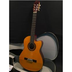 EPIPHONE MODEL C-70CE CUTAWAY NYLON STRING ACOUSTIC/ELECTRIC GUITAR, WITH ELECTAR USA MADE
