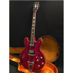 RIVIERA HOLLOW BODY ELECTRIC GUITAR, MADE IN JAPAN, WITH TWO HUMBUCKERS, TWO TONE AND TWO VOLUME
