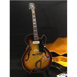 GUILD STARFIRE CE-100 HOLLOW BODY ELECTRIC GUITAR, SERIAL NUMBER 19476, COMES WITH HARD SHELL CASE,