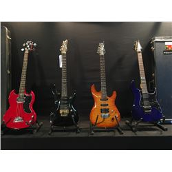 4 GUITARS: SAMICK GUITAR WITH FLOYD ROSE LOCKING/VIBRATO BRIDGE AND NUT, HUMBUCKER AND TWO SINGLE