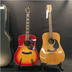 2 GUITARS: SIGNET MODEL GF10Z MADE IN JAPAN ACOUSTIC GUITAR, AND TAKEHARU WK-65H MADE IN JAPAN