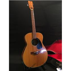 SUZUKI NO. F-90 ACOUSTIC GUITAR, MADE IN NAGOYA, JAPAN, COMES WITH HARD SHELL CASE