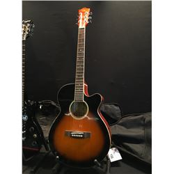 4 GUITARS: GK ACOUSTIC GUITAR WITH SOFT SHELL CASE, EPIPHONE LES PAUL SPECIAL II WITH SOFT SHELL